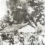 日军正在焚烧民房