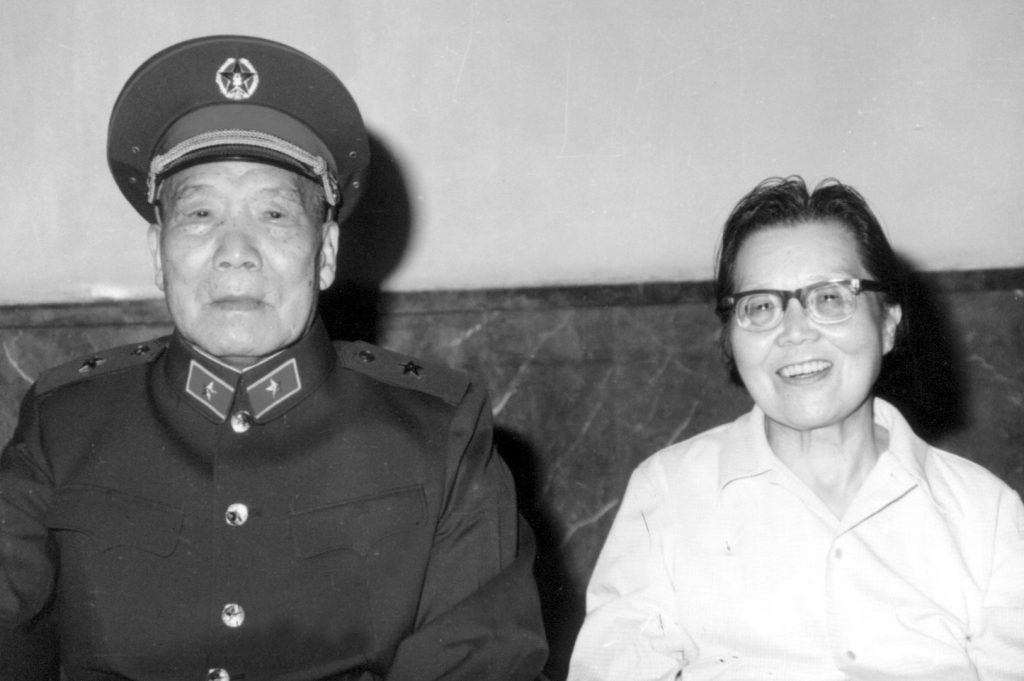 1985年8月于京西宾馆,李达夫妇最后一张合影。