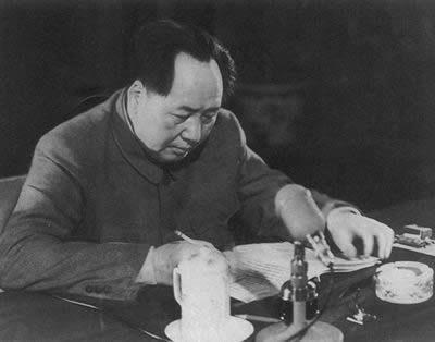 毛泽东在审阅和修改《中华人民共和国宪法草案》
