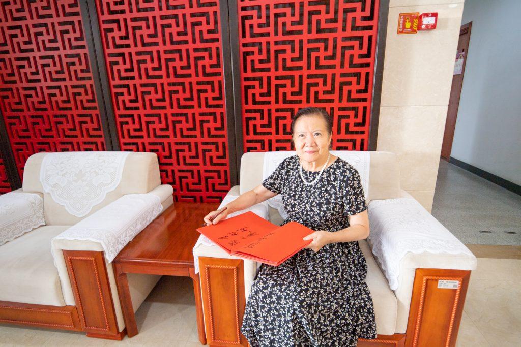 八路军研究会太行分会会长李彤妍女士在贵宾接待厅