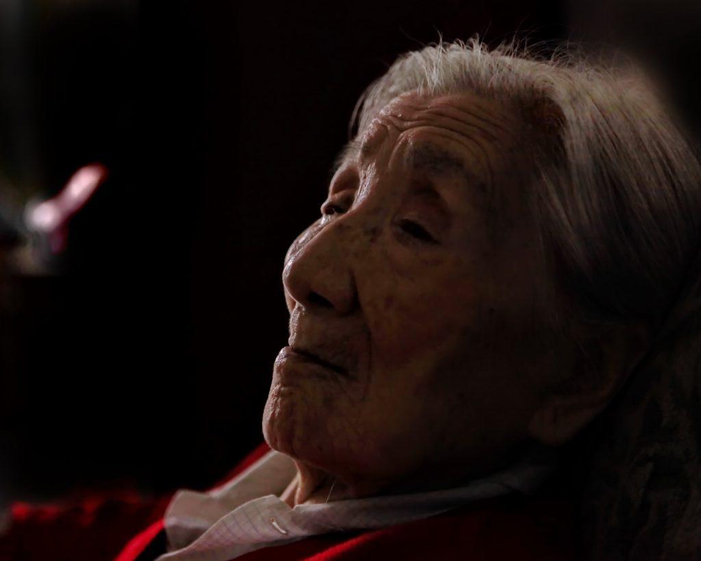 拍摄于2009年,时年95周岁。