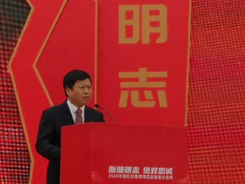 永州市委常委、宣传部长贺辉主持开幕式
