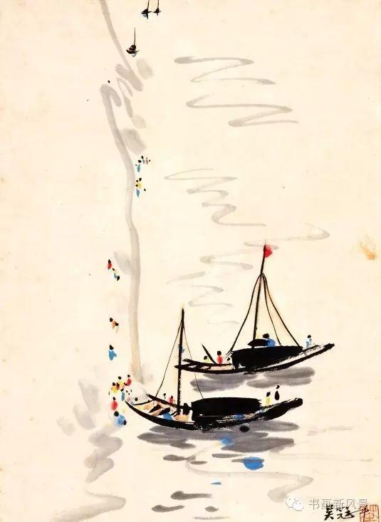 吴冠中的船之美,美到心窝窝!