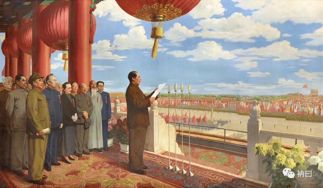 经过四次修改的著名油画《开国大典》