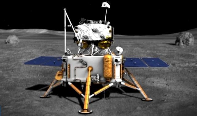 图注:嫦娥五号在月面上的情形(艺术图)。