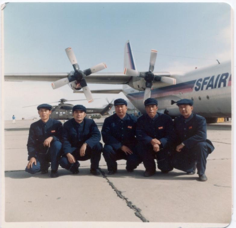 军区司令部作战部参加试飞的人员