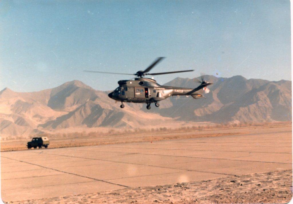 超美洲豹在高原试飞中的场内悬停