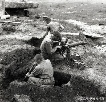 加拿大部队在朝鲜战场修筑工事