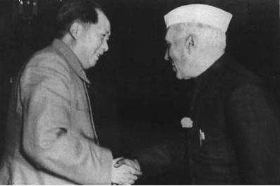 毛泽东主席会见印度总理尼赫鲁