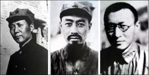 """1935年遵义会议后,中共中央决定由毛泽东、周恩来、王稼祥组成""""三人团""""(又称""""三人小组""""或""""三人军事小组""""),负责指挥全军的军事行动。它实际上是中共中央的最高军事领导组织"""