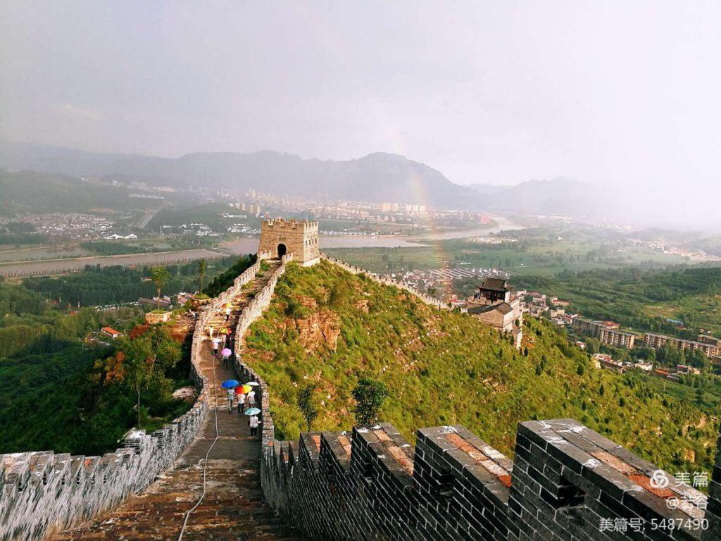 太行颂文化园新长城及其东南地势