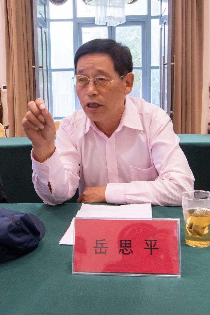 """军事科学院原抗战组首席专家岳思平发言,题目是""""关于中国共产党在全国抗战的中流砥柱作用的几个问题"""""""