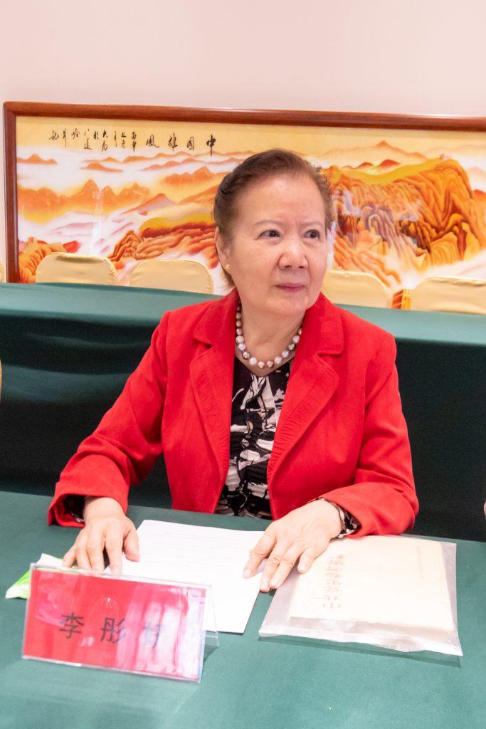 太行分会会长李彤妍发言,介绍上一年度工作和下一年度工作计划