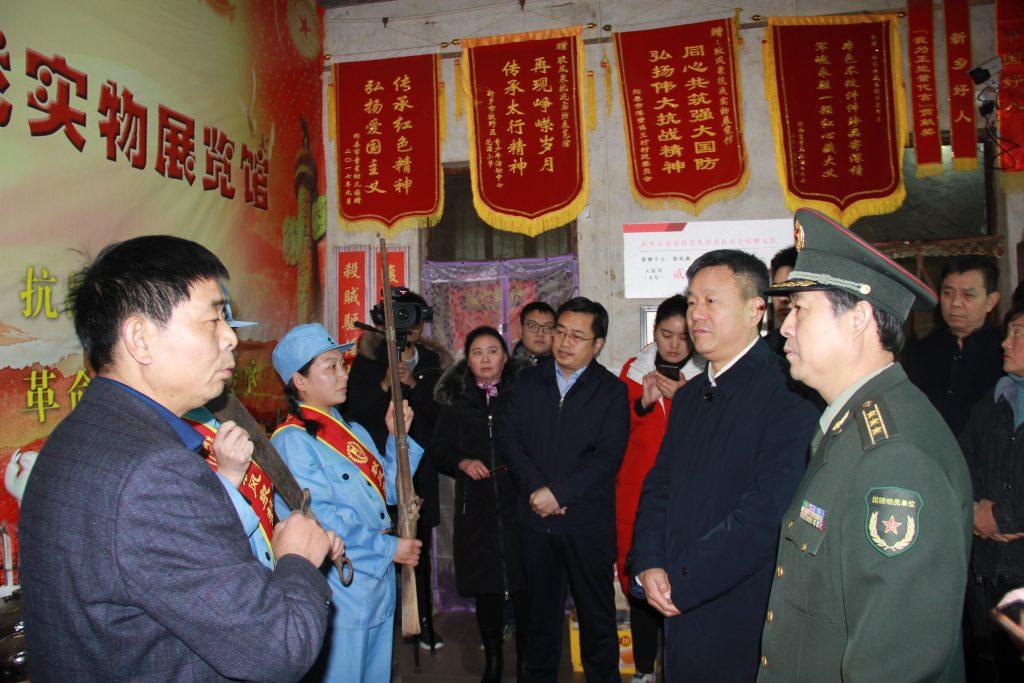 时任辉县市委书记郭书佩带领四大班子调研指导、慰问耿风泉