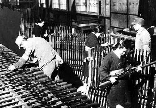 八路军兵工厂标准化生产的大批八一式马步枪