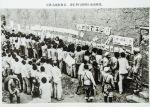 百团大战胜利后、我军举行的图片流动展览。